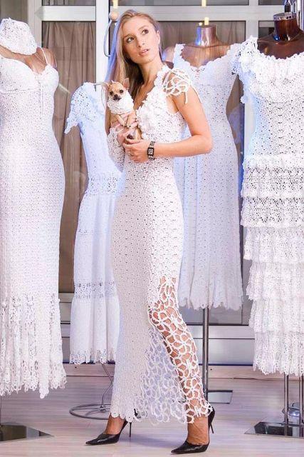 Vestido-de-noiva-de-crochê-modelo-lindo