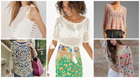 Blusas de Crochê: 77 Modelos Lindos e Como Fazer (Gráficos)!