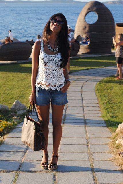 look com short jeans