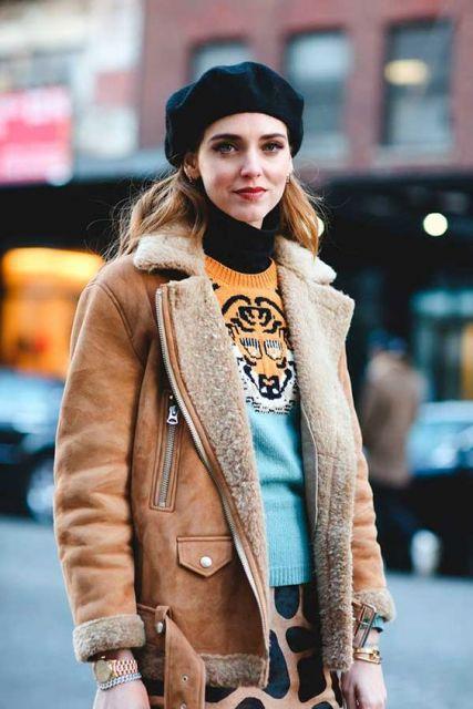 boina feminina jaqueta