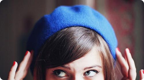 boina feminina modelo azul
