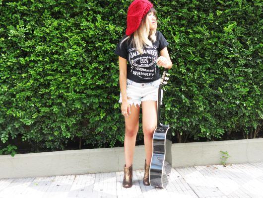 boina feminina no verão rock