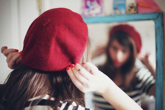 boina feminina vermelho