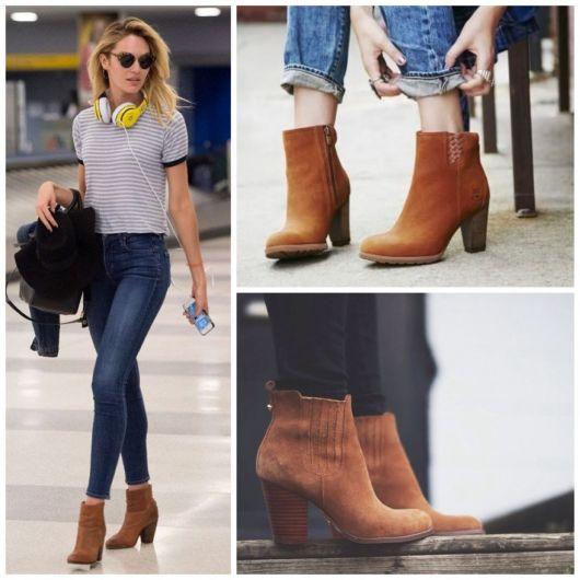 ankle boot bota caramelo