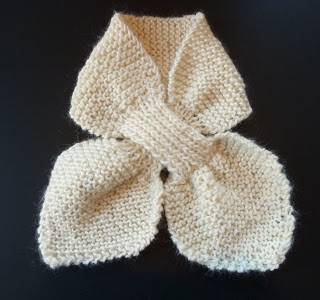 cachecol de crochê tipo gravata