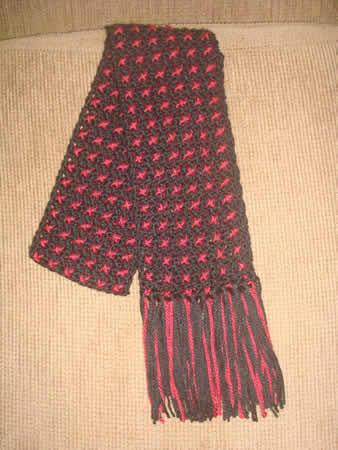 cachecol de crochê xistrado