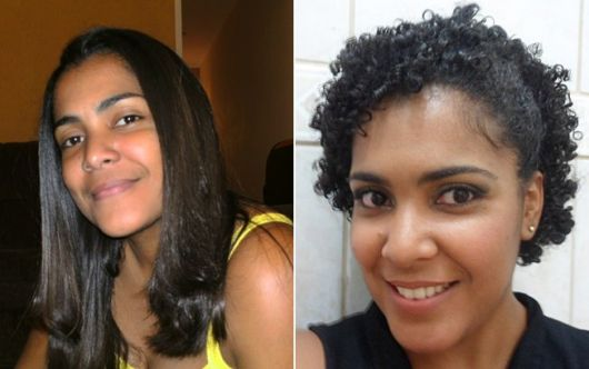 antes e depois cabelo cacheado