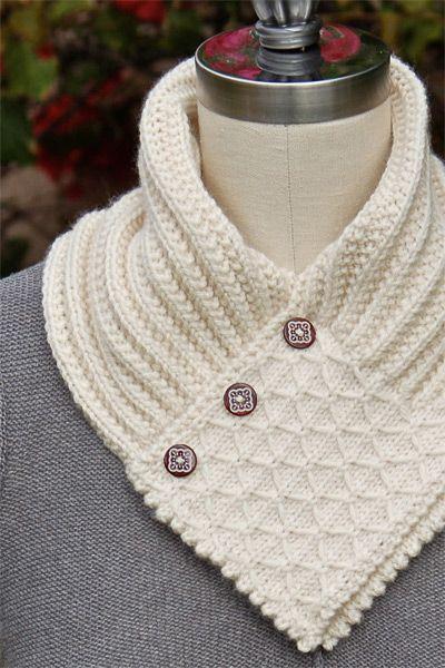 Knitting Pattern Scarf Neck Warmer : Gola de tricO: modelos, como usar e passo a passo!