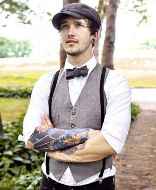 gravata colete e suspensorio