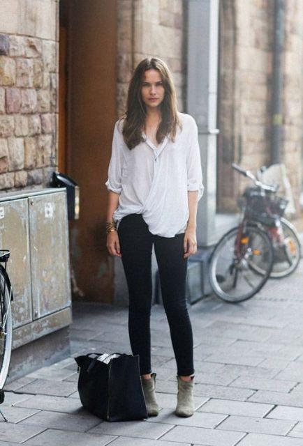 looks com camisa com calça jeans