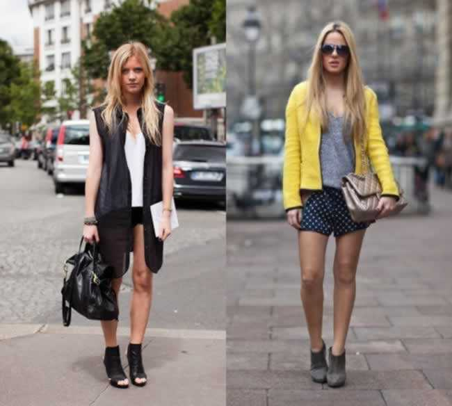 usar looks com ankle boot com shorts
