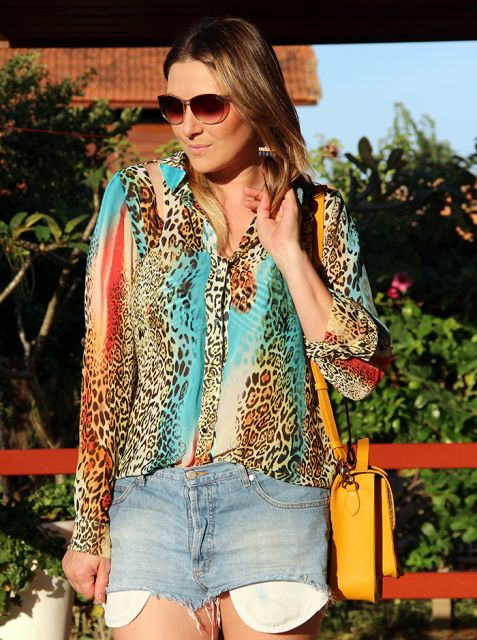 looks com camisa animal print