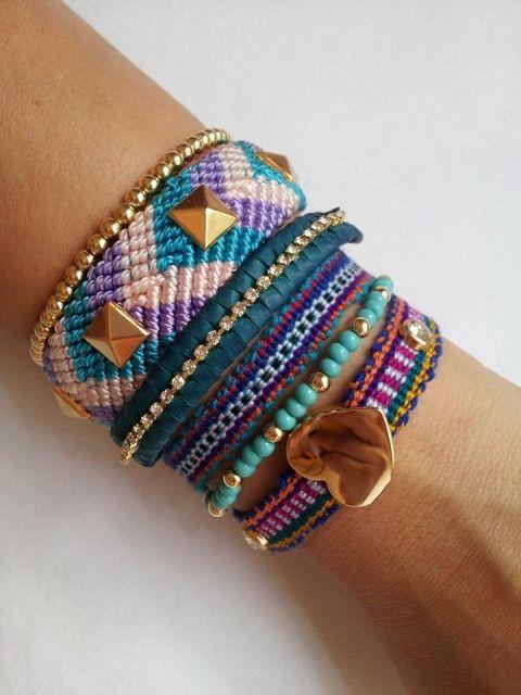 pulseiras hippie chiques e lindas