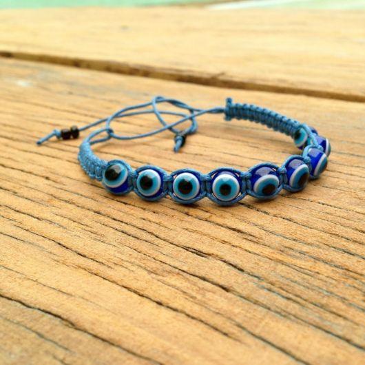 pulseiras hippie  com olho grego