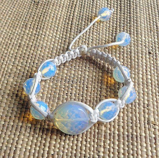 pulseiras hippie com pedra da lua