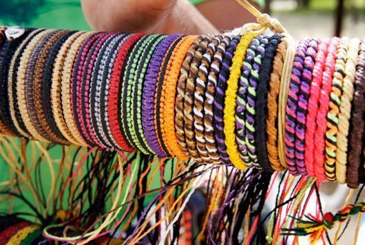 pulseiras hippie de macramê