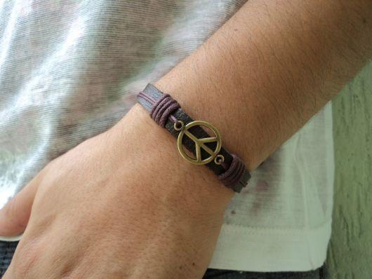 modelos de pulseiras hippie de couro