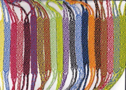 pulseiras hippie grafista macramê