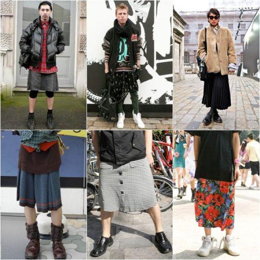 saia masculina colorida e moderna