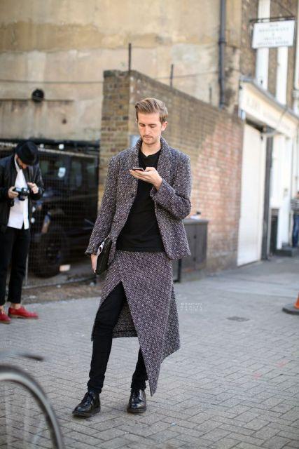 saia masculina com calça formal