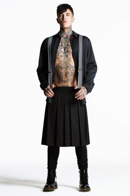 saia masculina gothic