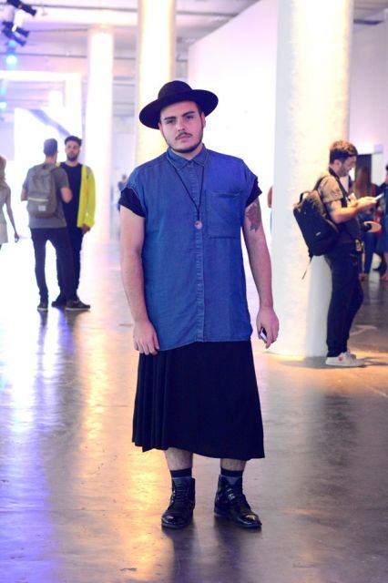 saia masculina gotica moderna