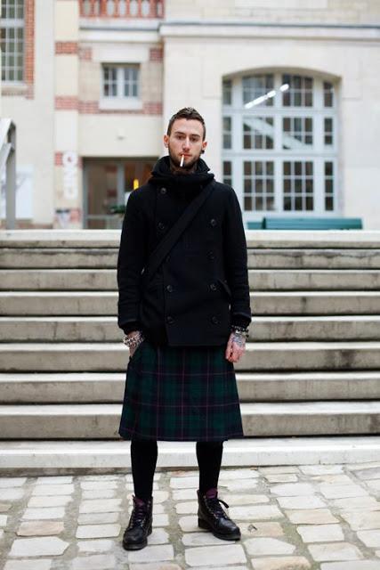 saia masculina kilt com calça