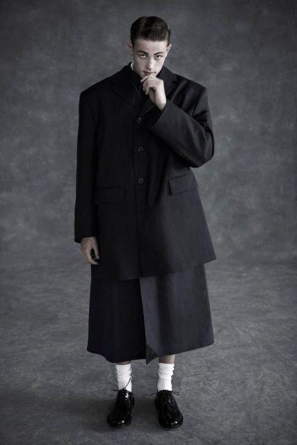 saia masculina longa como usar