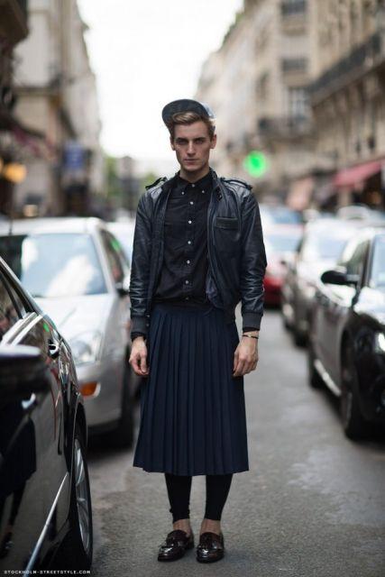 saia masculina modelo longo