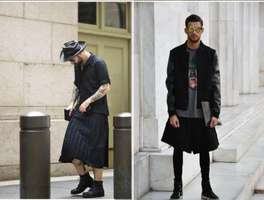 saia masculina street como usar