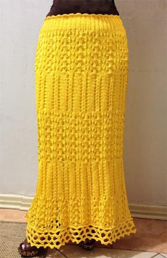 saia de tricô amarela