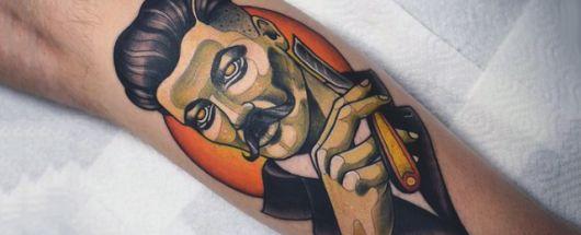 tattoo old school barbeiro como fazer