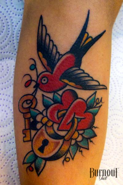 tattoo old school bird