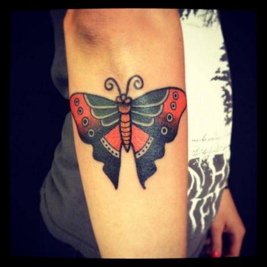 tattoo old school borboleta ideias