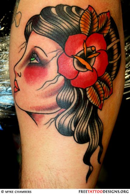 tattoo old school ideia cigana