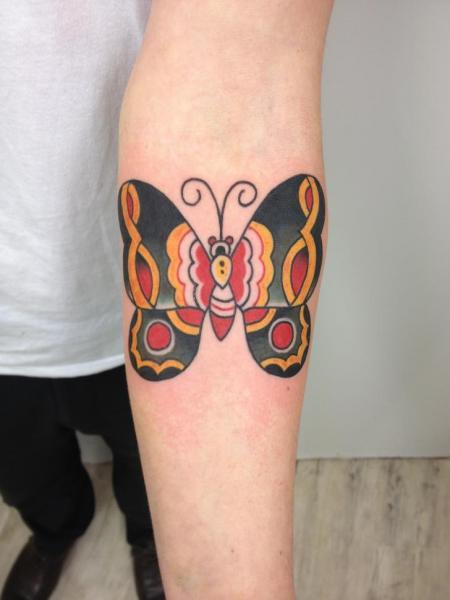 tattoo old school ideias borboleta