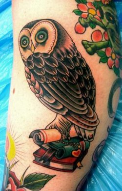 tattoo old school ideias owl