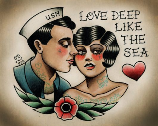 tattoo old school marinheiro ideias