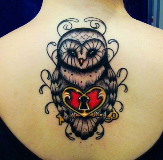 tattoo old school owl