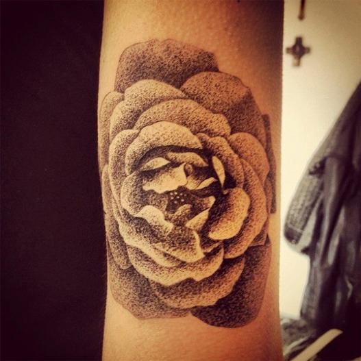 tatuagens com pontilhismo 3d
