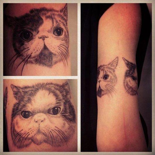 tatuagens com pontilhismo de animais