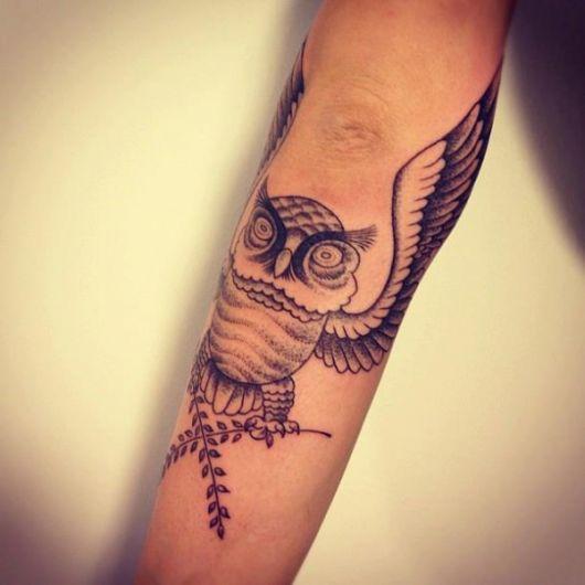 tatuagens com pontilhismo de animal