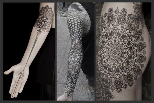 tatuagens com pontilhismo kenji