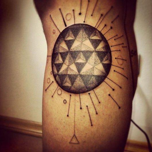 tatuagens com pontilhismo marangoni