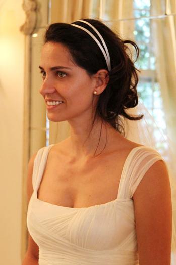 tiaras de cetim como usar para casamento