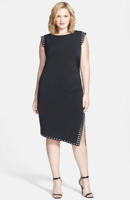 traje passeio completo feminino plus size pretinho
