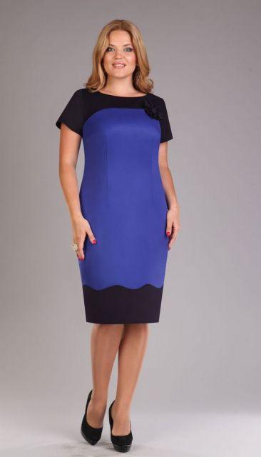 traje passeio completo feminino preto e azul