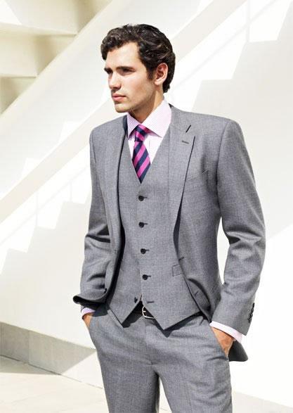 traje passeio completo masculino claro