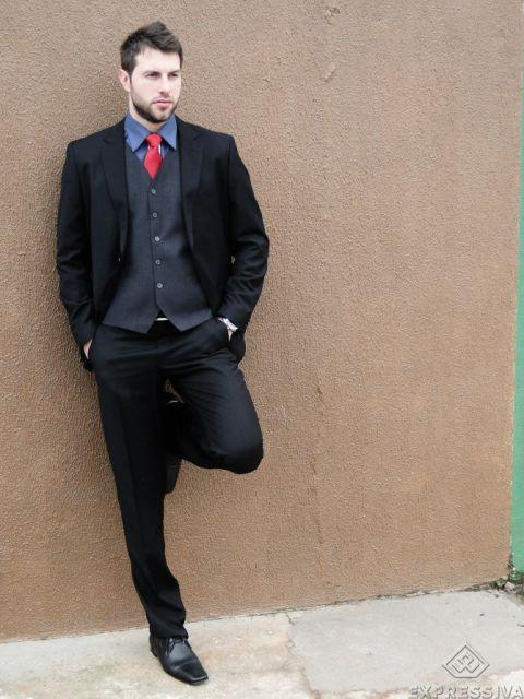 traje passeio completo masculino como combinar