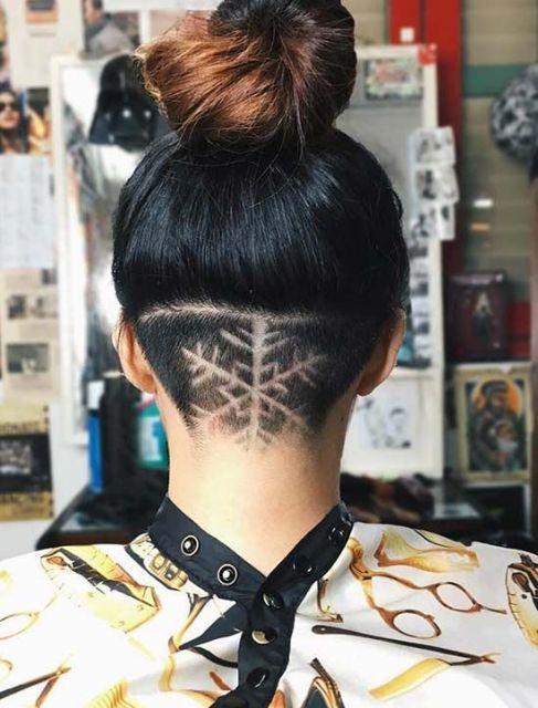 cabelo raspado nuca